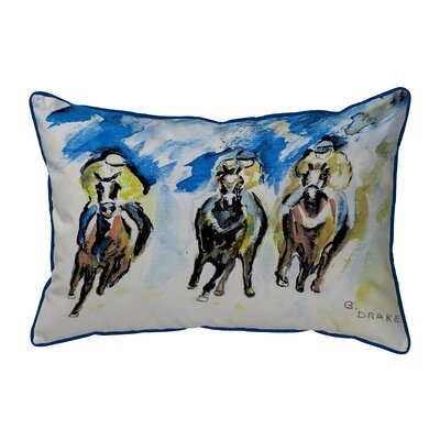 Three Racing Indoor/Outdoor Lumbar Pillow Size: Large