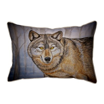 Lodge Wolf Indoor/Outdoor Lumbar Pillow