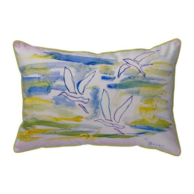 Three Gulls Indoor/Outdoor Lumbar Pillow Size: Large