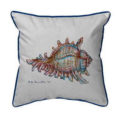 Coastal Conch Shell Indoor/Outdoor Lumbar Pillow