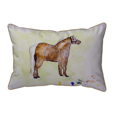 Shetland Pony Indoor/Outdoor Lumbar Pillow Size: Large