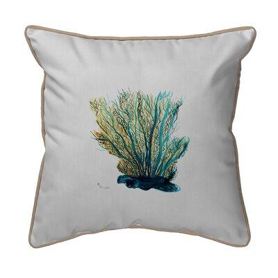Coastal Coral Indoor/Outdoor Throw Pillow