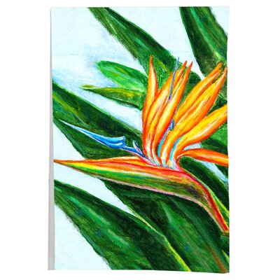 Garden Bird of Paradise Flower Hand Towel (Set of 2)