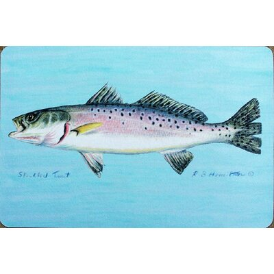 Coastal Speckled Trout Doormat Size: 30 H x 50 W