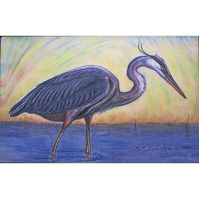 Coastal Heron Doormat Size: 30 H x 50 W