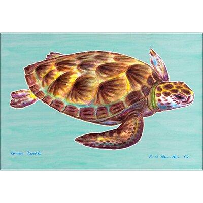 Coastal Sea Turtle Doormat Size: 30 H x 50 W