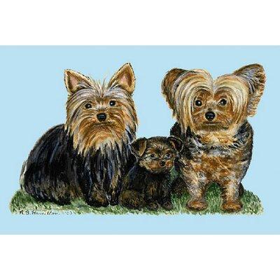Pets Yorkies Doormat Size: 18 H x 26 W