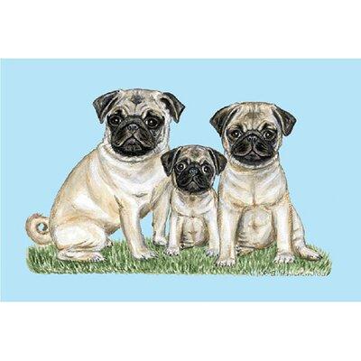 Pets Pugs Doormat Size: 30 H x 50 W