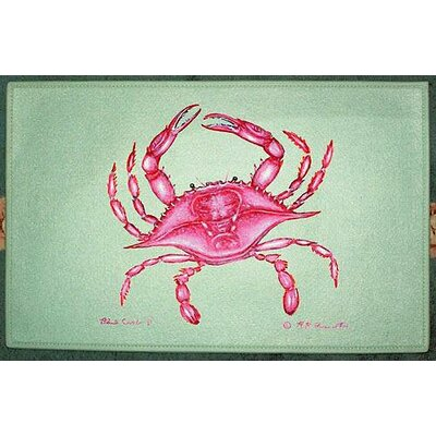 Coastal Crab Doormat Size: 18