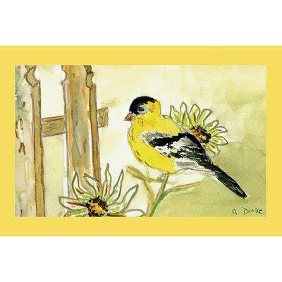 Garden Goldfinch Doormat Size: 18 H x 26 W