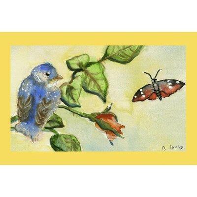 Garden Bird Doormat Size: 18 H x 26 W
