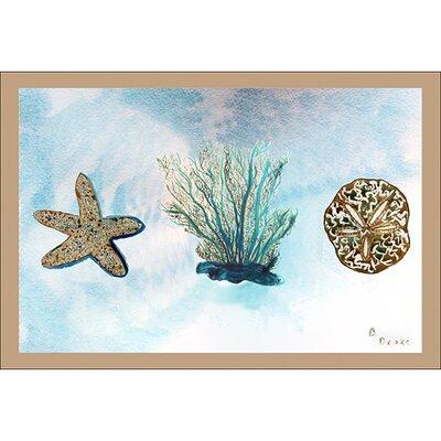 """Betsy Drake Interiors Coastal Blue Coral Door Mat - Size: 30"""" H x 50"""" W at Sears.com"""