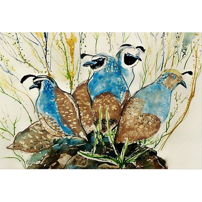 Garden Partridges Doormat Size: 18 H x 26 W