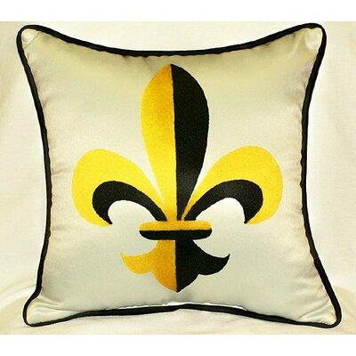 Garden Fleur-de-lis Indoor/Outdoor Throw Pillow