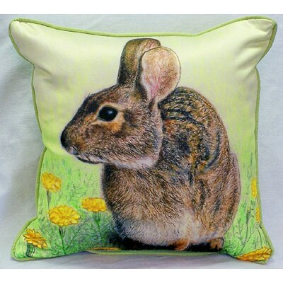 Garden Rabbit Indoor/Outdoor Throw Pillow