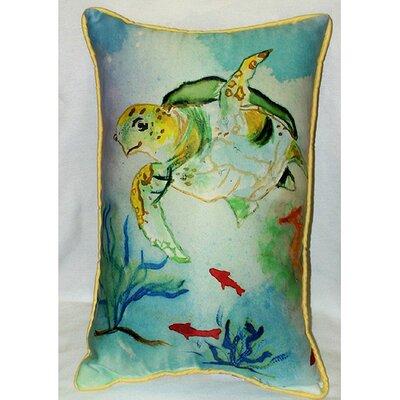 Betsy Drake Interiors Coastal Sea Turtle Indoor / Outdoor Pillow at Sears.com