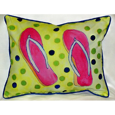 Coastal Flip Flops Indoor/Outdoor Lumbar Pillow