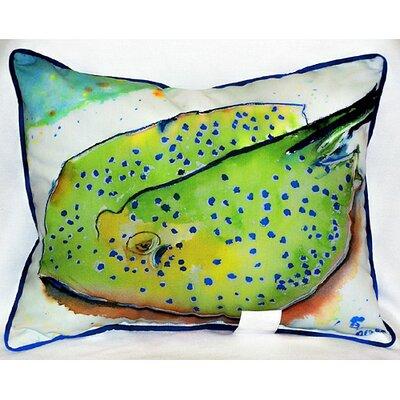 Coastal Stingray Indoor/Outdoor Lumbar Pillow
