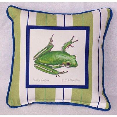 Garden Tree Frog Indoor/Outdoor Throw Pillow