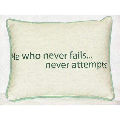Thoughts for the Day He Who Indoor/Outdoor Lumbar Pillow