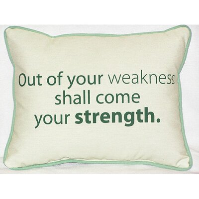 Thoughts for the Day Out of Your Weakness Indoor/Outdoor Lumbar Pillow
