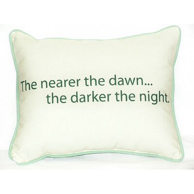 Thoughts for the Day The Nearer the Dawn Indoor/Outdoor Lumbar Pillow