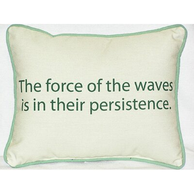 Thoughts for the Day The Force of the Waves Indoor/Outdoor Lumbar Pillow