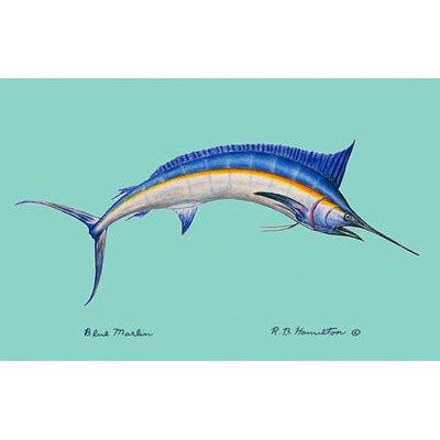 Coastal Marlin Doormat Size: 18 H x 26 W