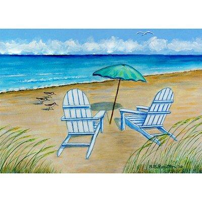 Garden Adirondack Chairs Doormat Size: 18 H x 26 W