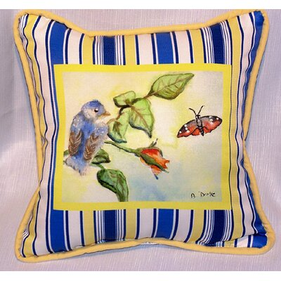 Garden Baby Bird Indoor/Outdoor Throw Pillow