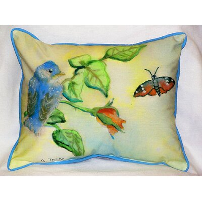 Garden Bird Indoor/Outdoor Lumbar Pillow