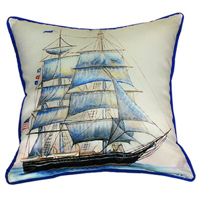 Coastal Whaling Ship Indoor/Outdoor Throw Pillow