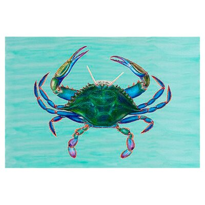 Coastal Crab Doormat Mat Size: Rectangle 18 x 26