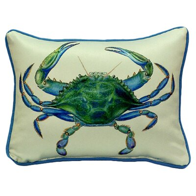 Coastal Male Crab Indoor/Outdoor Throw Pillow