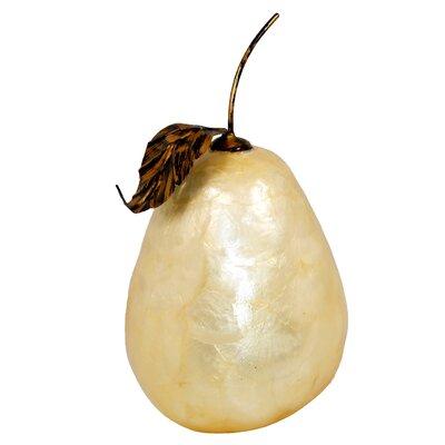 Medium Capiz Pear Sculpture