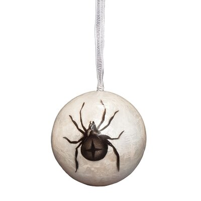Capiz Ball Crow Ornament NW-812922-B