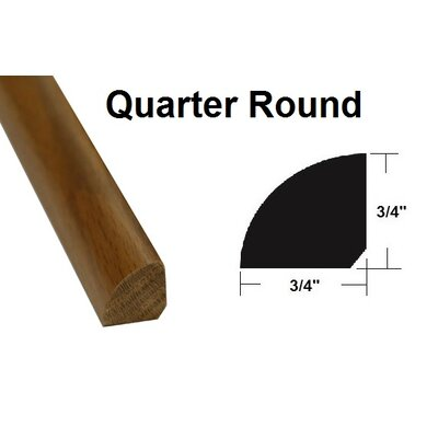 0.75 x 0.75 x 78.75 Oak Quarter Round in Light Yellow and Brown