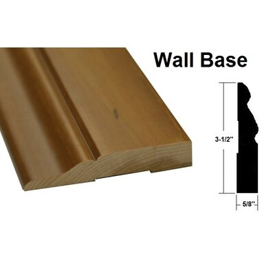 0.63 x 3.5 x 78.75 Oak Wall Base in Light Yellow and Brown