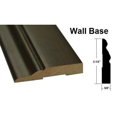 0.63 x 3.5 x 78.75 Oak Wall Base in Brown