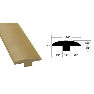 0.56 x 1.75 x 78.75 Maple T-Molding in Light Brown