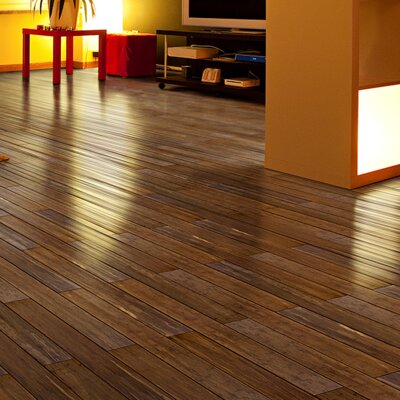 4 Engineered Bamboo  Flooring in Carbonized