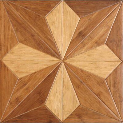 Victorian Parquet Engineered 15.75 x 15.75 Bamboo Wood Tile