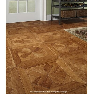 Bordeaux Parquet Engineered 15.75 x 15.75 Bamboo Wood Tile