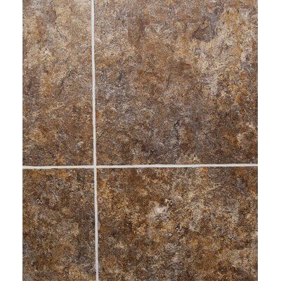 Pompeii Slate 18 x 36 x 0.24mm Luxury Vinyl Tile in Brown