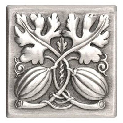 Kitchen Garden 4 x 4 Autumn Squash Decorative Tile in Pewter