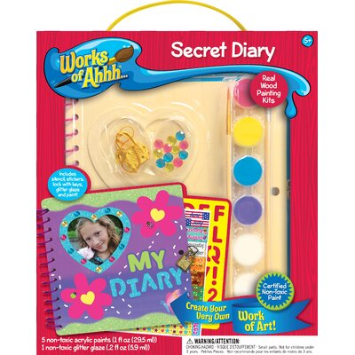 Works of Ahhh Secret Diary Wood Paint Kit 21202