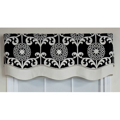 "RLF HOME Spiromum Glory 50"" Curtain Valance - Color: Black at Sears.com"