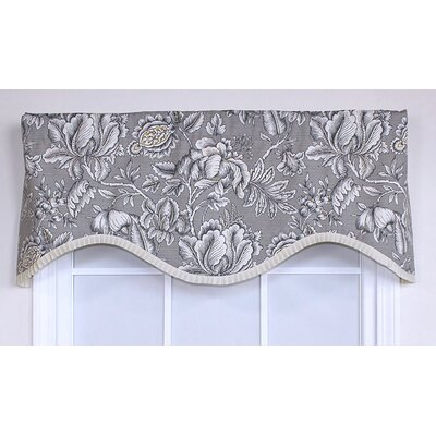 "RLF HOME Iris Cornice 50"" Curtain Valance - Color: Black at Sears.com"