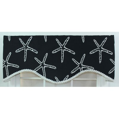 "RLF HOME Etoile Cornice 50"" Curtain Valance - Color: Black at Sears.com"