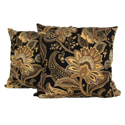 Jacobie Throw Pillow (Set of 2) Color: Onyx
